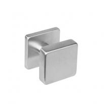 Knop 224600 vierkant centraal vast op vierkant rozet staal 7mm nok met stift M10/8x90 RVS