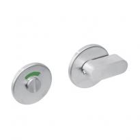 WC-sluiting 8mm rond plat verdekt met design olive RVS