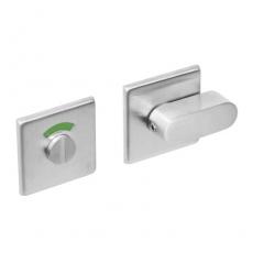 WC-sluiting 8mm vierkant plat verdekt met design olive RVS