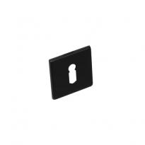 Sleutelgat plaatje vierkant plat verdekt RVS -mat zwart