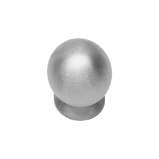 Knop bolrond achterplaat ø25mm RVS