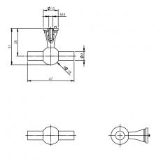 Knop T-vorm RVS