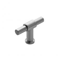 Knop T-vorm 20mm recht/recht RVS