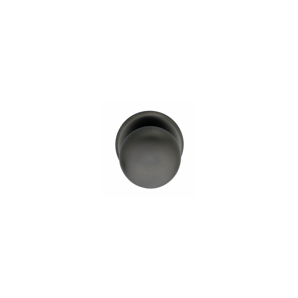 Voordeurknop zwaar ø80 75mm antraciet titaan PVD