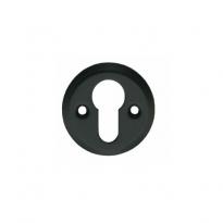 Profielcilindergat plaatje schroefgat mat zwart