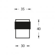Deurstop 442070 vloermontage 30mm RVS