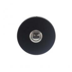 Beldrukker rond verdekt mat zwart