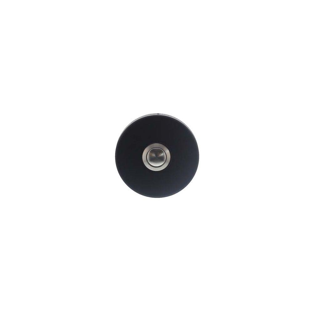 Beldrukker rond verdekt �53x10 RVS/mat zwart