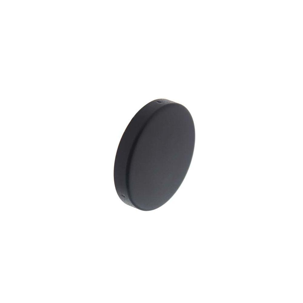 Afdekrozet rond verdekt metaal RVS/mat zwart
