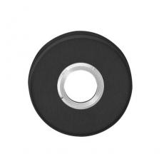 Rozet rond verdekt met metaal RVS/mat zwart
