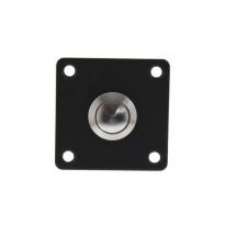 Beldrukker vierkant RVS/mat zwart