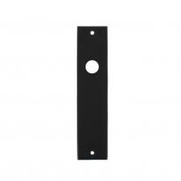 Kortschild rechthoekig blind mat zwart