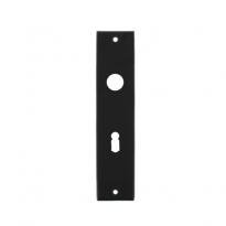 Kortschild rechthoekig sleutelgat 56mm mat zwart