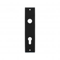 Kortschild rechthoekig profielcilindergat 72mm mat zwart