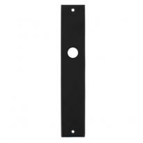 Langschild rechthoekig blind mat zwart
