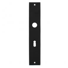 Langschild rechthoekig sleutelgat 56mm mat zwart