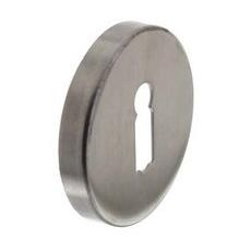 Sleutelgat plaatje rond 500 serie staal RVS