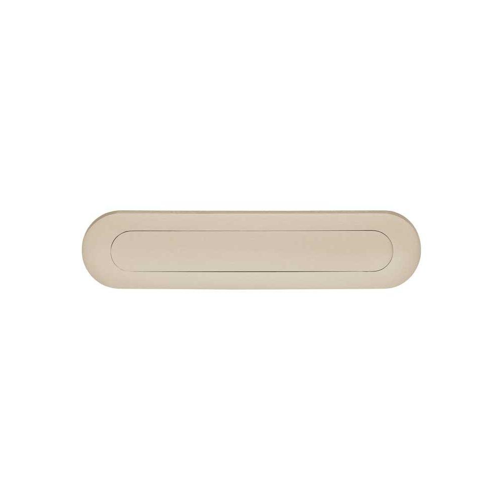 Briefplaat ovaal met veer chroom mat