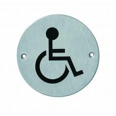 Pictogram rond WC minder valide RVS