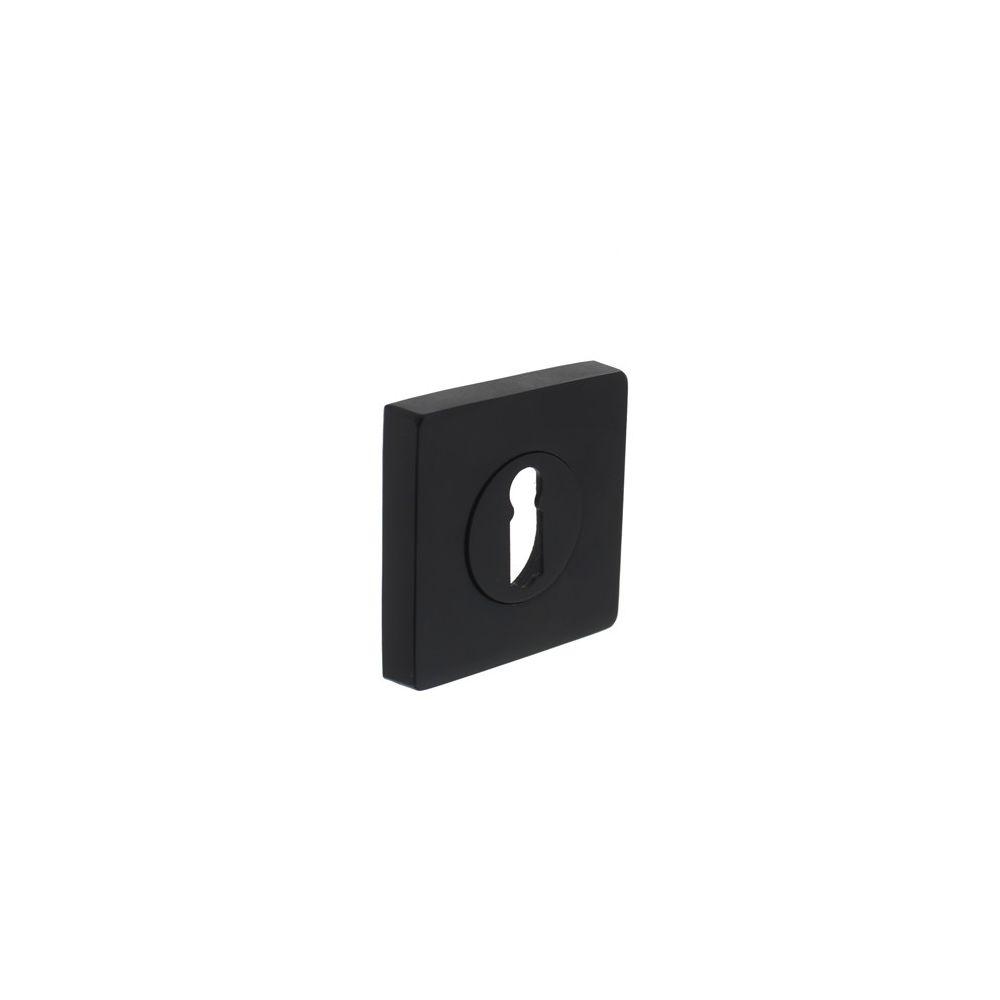 Sleutelgat plaatje vierkant 7mm nokken -mat zwart