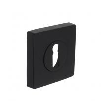 Sleutelgat plaatje vierkant 7mm nokken - mat zwart