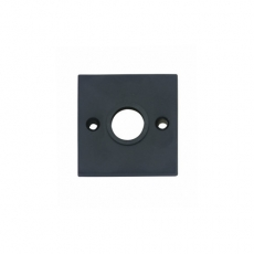 Rozet vierkant groot mat zwart