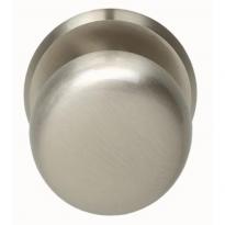 Voordeurknop zwaar ø80/75mm nikkel mat
