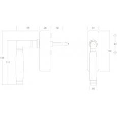 Raamkruk Ton 222 afsluitbaar nikkel