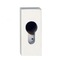 Veiligheid-schuifrozet 10mm rechthoek RVS gepolijst
