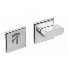 WC-sluiting 8mm vierkant plat verdekt met design olive RVS gepolijst