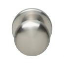Voordeurknop paddestoel 57-66 nikkel mat