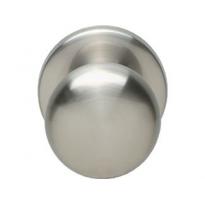 Voordeurknop paddestoel ø57/66mm nikkel mat