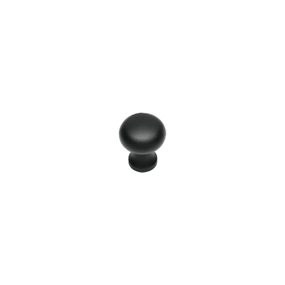 Knop paddestoel 30mm Smeedijzer zwart